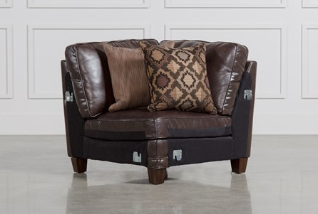 Display product reviews for BARNABY LEATHER CORNER CHAIR