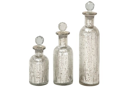 Display product reviews for 3 PIECE SET GLASS STOPPER BOTTLES