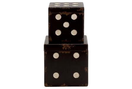 Display product reviews for 2 PIECE SET WOOD DICE BOXES