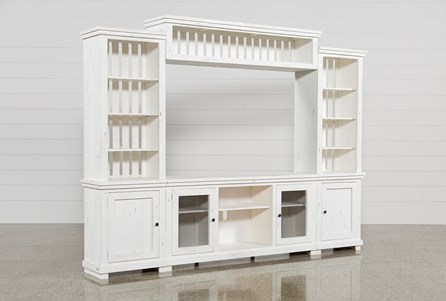 Display product reviews for KIT-SINCLAIR WHITE 4 PIECE ENTERTAINMENT CENTER