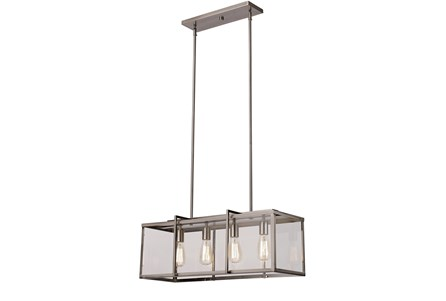 Display product reviews for PENDANT-CABOT BRUSHED NICKEL RECTANGLE