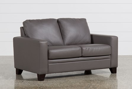 Display product reviews for LENNON GRANITE LEATHER LOVESEAT