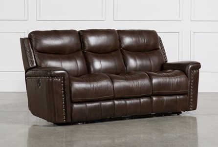 Display product reviews for BOWMAN LEATHER POWER RECLINING SOFA