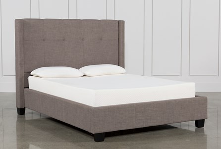 Display Reviews For Kit Damon Stone Queen Upholstered Platform Bed