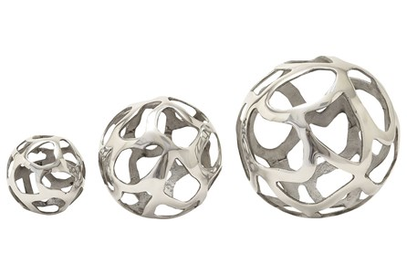 Display product reviews for 3 PIECE SET ALUMINUM DECORATIVE BALLS