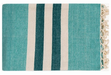 Display product reviews for ACCENT THROW-DERMOT AQUA STRIPED