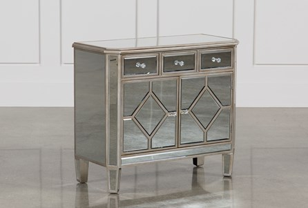 Display product reviews for HAYWORTH MIRRORED CHEST OF DRAWERS