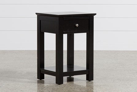 Display product reviews for BAYSIDE BLACK 1-DRAWER NIGHTSTAND