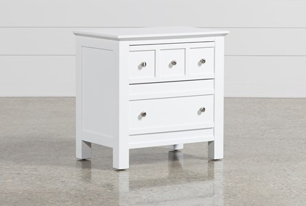 Display product reviews for BAYSIDE WHITE 2-DRAWER NIGHTSTAND