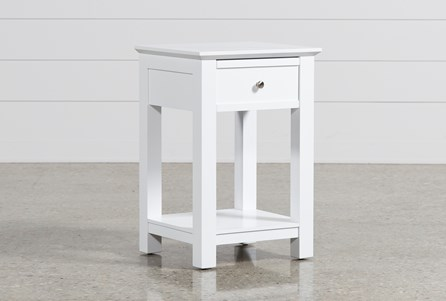 Display product reviews for BAYSIDE WHITE 1-DRAWER NIGHTSTAND