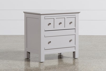 Display product reviews for BAYSIDE GREY 2-DRAWER NIGHTSTAND