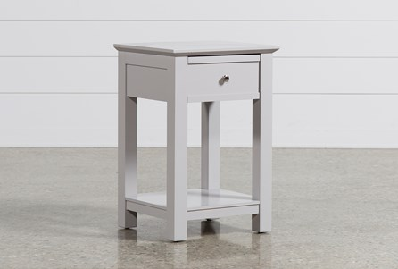 Display product reviews for BAYSIDE GREY 1-DRAWER NIGHTSTAND