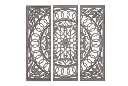 Display product reviews for 3 PIECE WOOD SCROLL PANELS