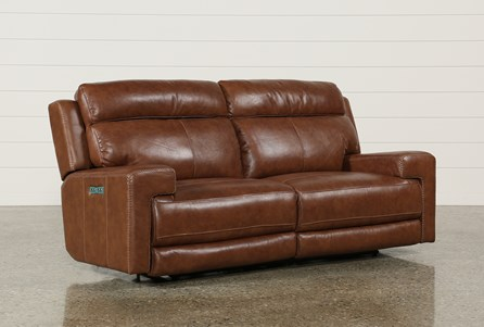 Display product reviews for WAYLON LEATHER POWER DUAL SOFA W/POWER HEADREST & USB