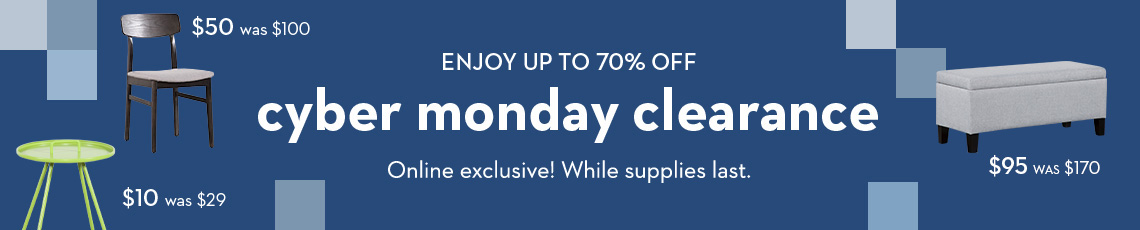 enjoy up to 70% off Cyber Monday clearance