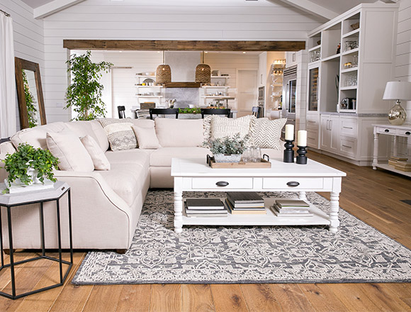 interesting interior design living room. country rustic dining room with Magnolia Home Homestead sofa Country Rustic Room Ideas  Living Spaces