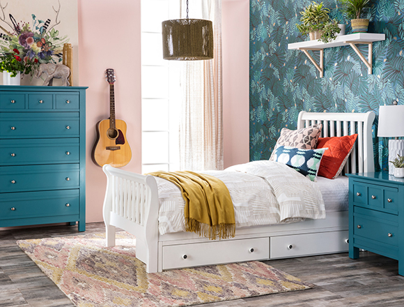 Boho Kids Room With Bayfront Bed