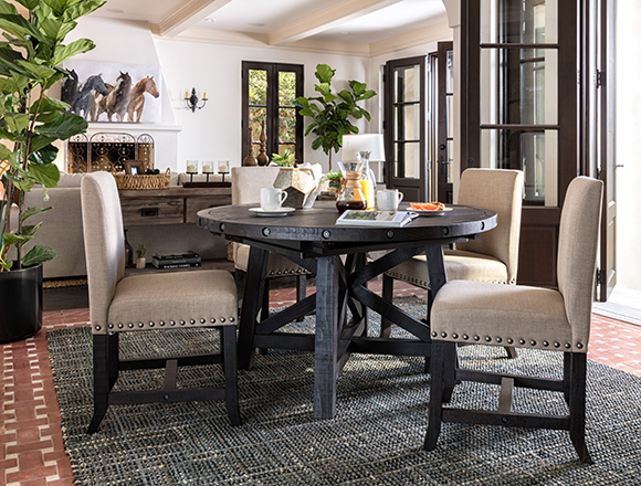 Country/Rustic dining room with Jaxon dining set