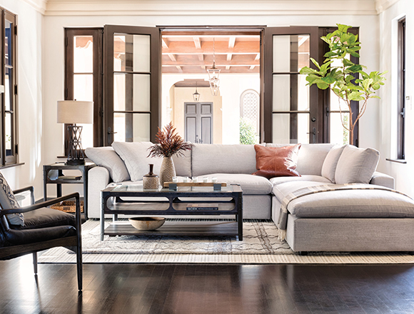 Country/rustic Living room with Haven sofa