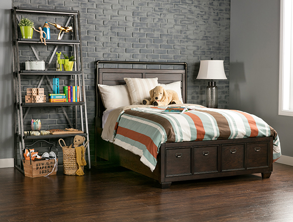 Industrial Kids Room With Elliot Bed