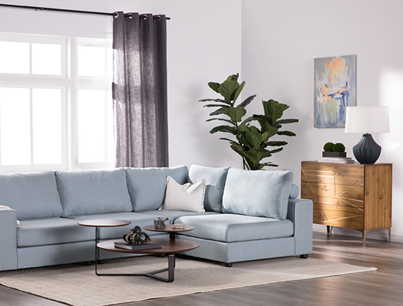 Modern Living Room With Gabrielle Sofa