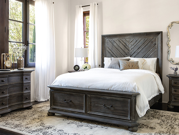 traditional bedroom with Laurent bed