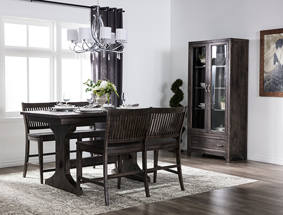 traditional dining room with valencia dining set