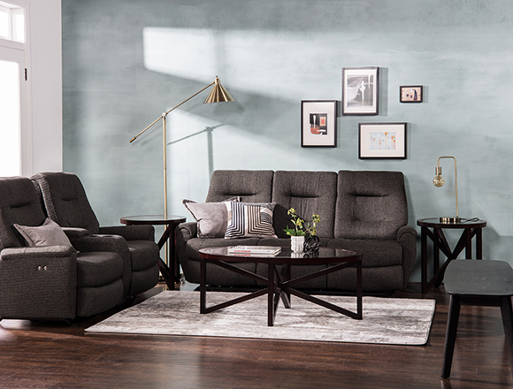 transitional Living room with jaden sofa