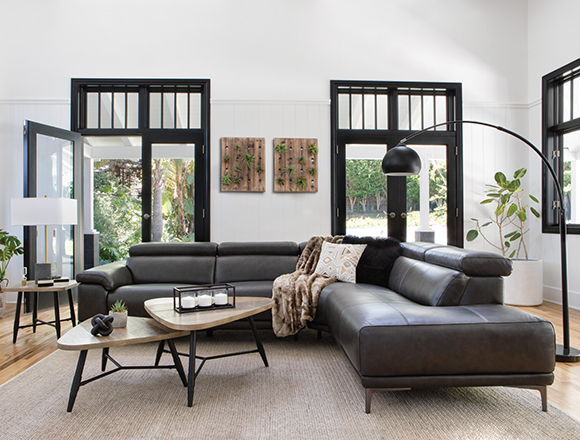 Transitional Living Room With Kristen Sofa