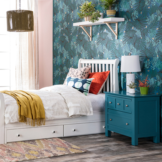 kids bed styles - upholstered and wood