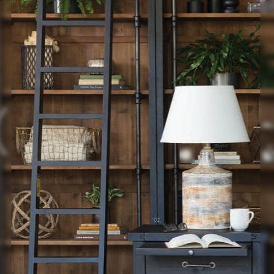 rustic bookshelf ladder