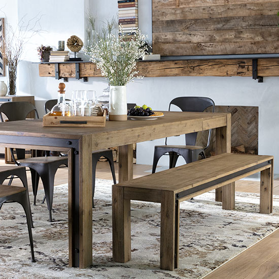 dining room sets living spaces rh livingspaces com dining room table with bench against wall dining room table with bench seating