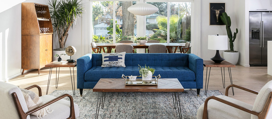 Mid Century Modern Living Room Style Tips Living Spaces