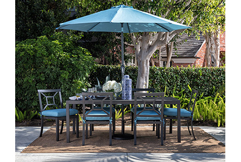 dining set with umbrella