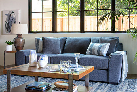 how to clean a fabric couch a step by step guide living spaces. Black Bedroom Furniture Sets. Home Design Ideas