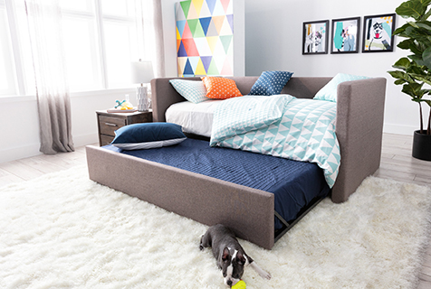 trundle storage bed