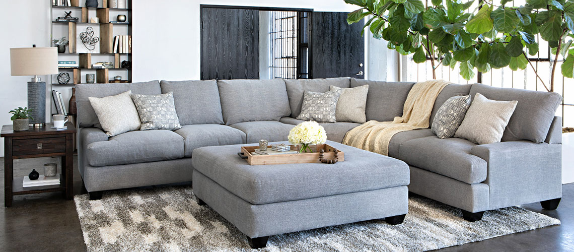 Sectional Sofas Guide To Sofa Shape Sofa Care And More Living Spaces