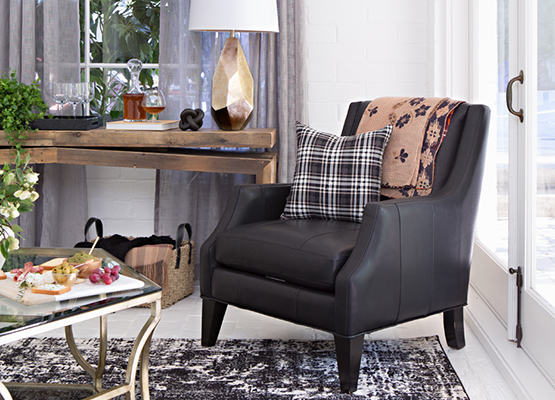 transitional accent chair
