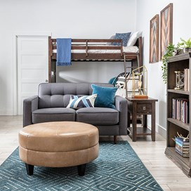 guys dorm style with ottoman and twin sleeper sofa