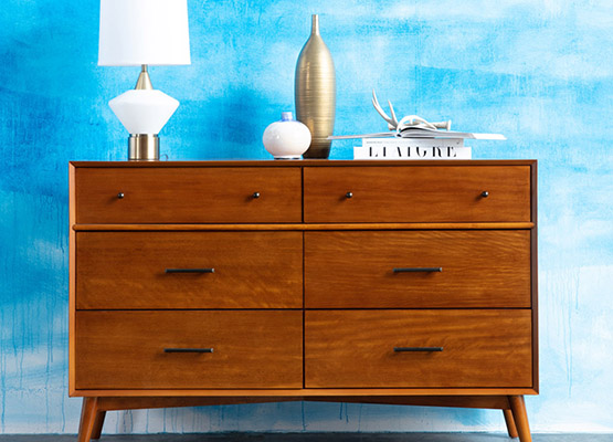 brown 6-draw dresser