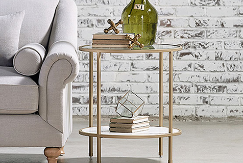 Magnolia Home Ellipse End Table