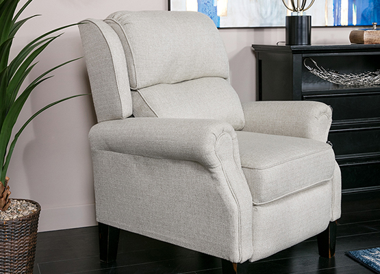 upholstery recliner with fabric