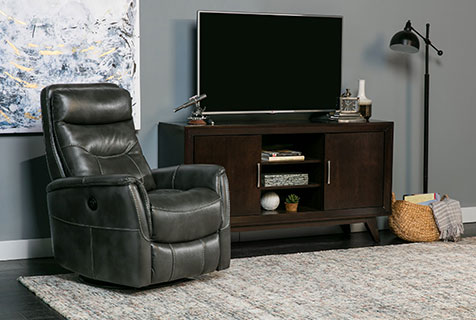 upholstery recliner with high performance fabric