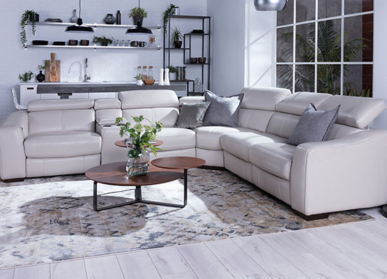 grey reclining sectional