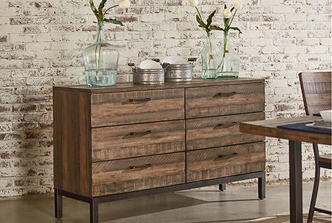 decorate an industrial buffet server
