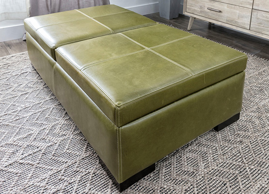 small space ottoman storage