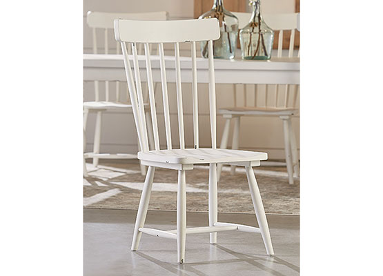 white wood dining room chair