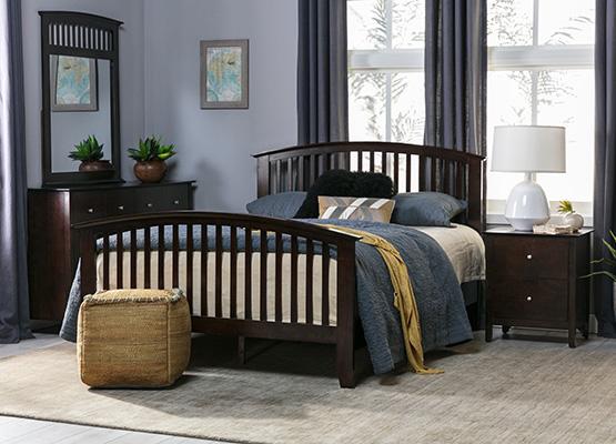 màu xanh đậm espresso + phòng ngủ màu nâu