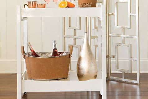 style bar cart - dining