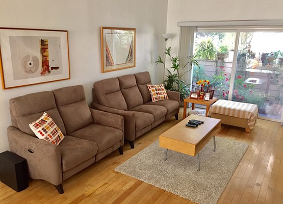 brown reclining sofas